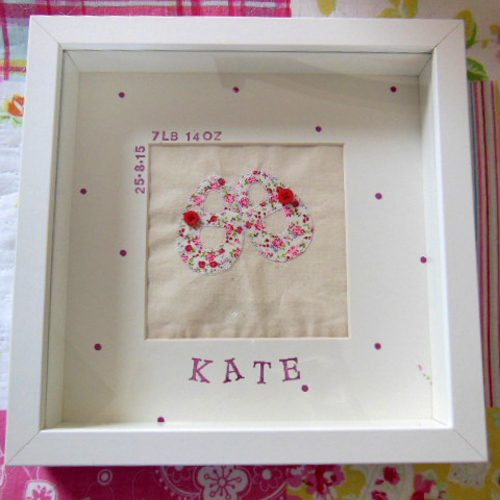 personalised baby frame michelle made this