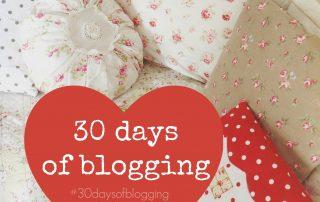 30 days of blogging