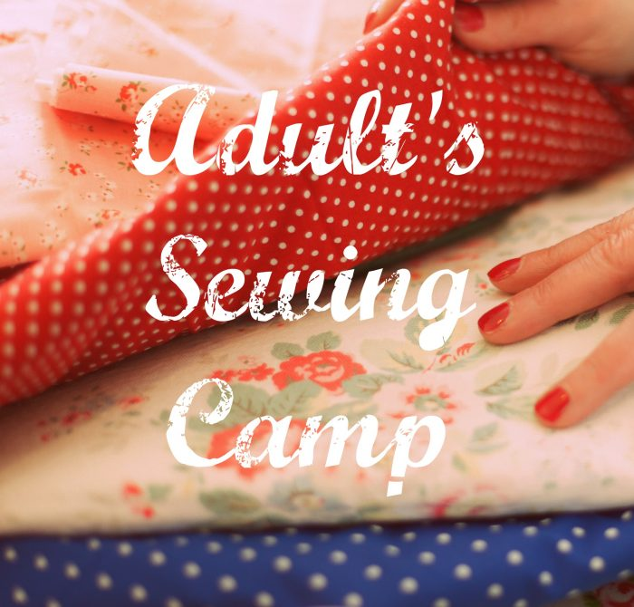 adults sewing camp