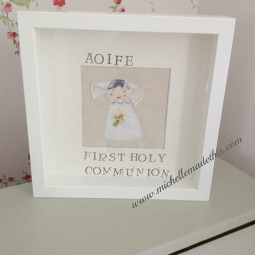 Personalised Holy Communion Frame Girl Michelle Made This