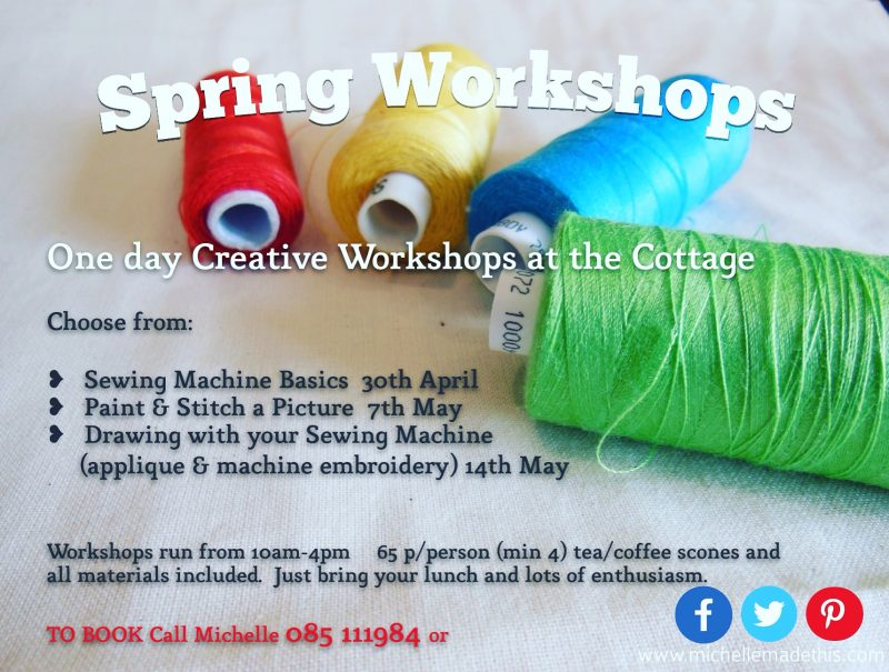 spring workshops at michellemadethis