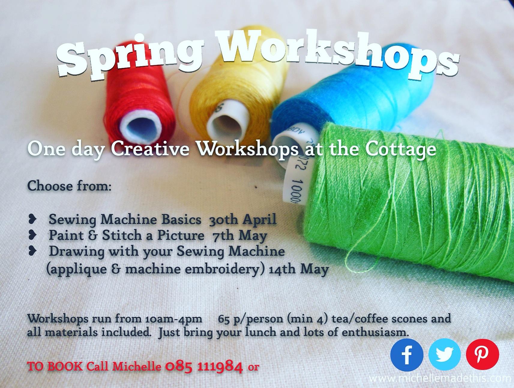 spring workshops at michellemadethis