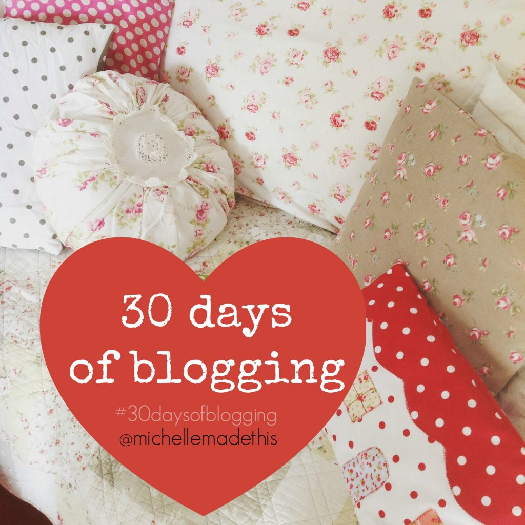 30 days of blogging