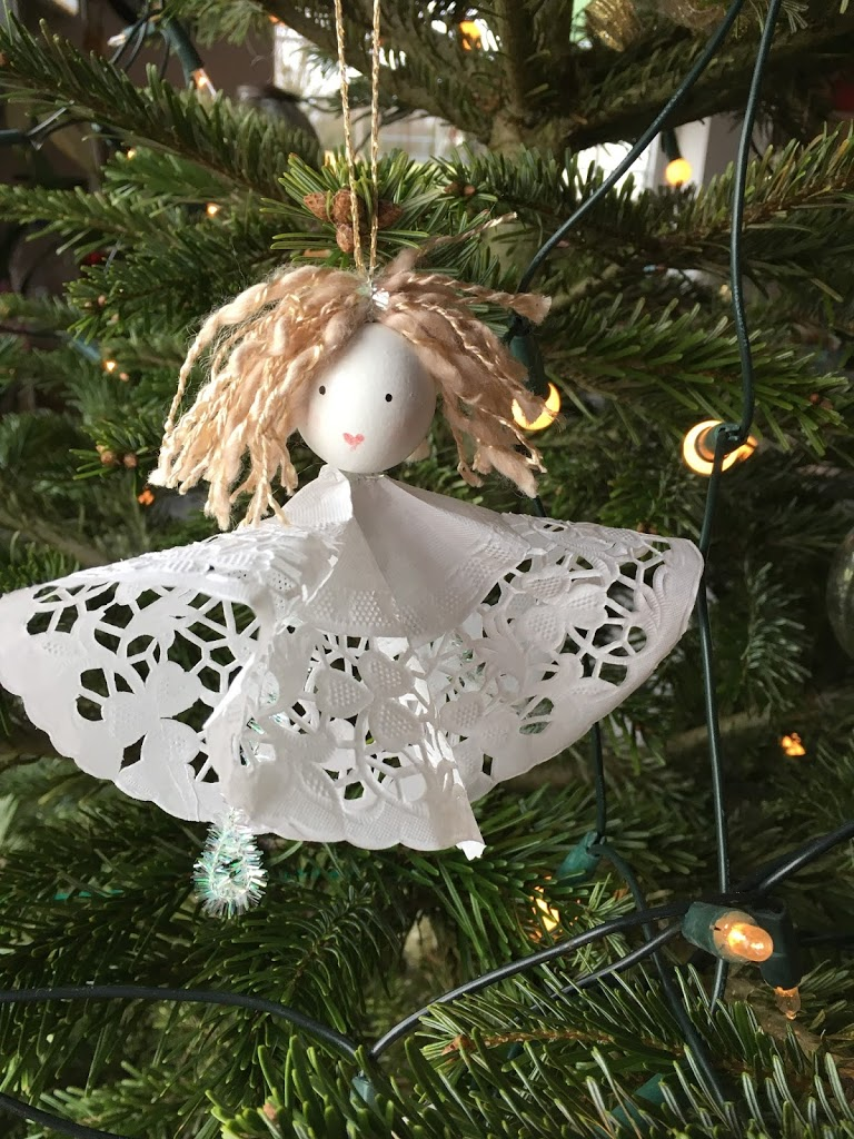 Doily Angel  – Day 4 Michelle Makes Christmas